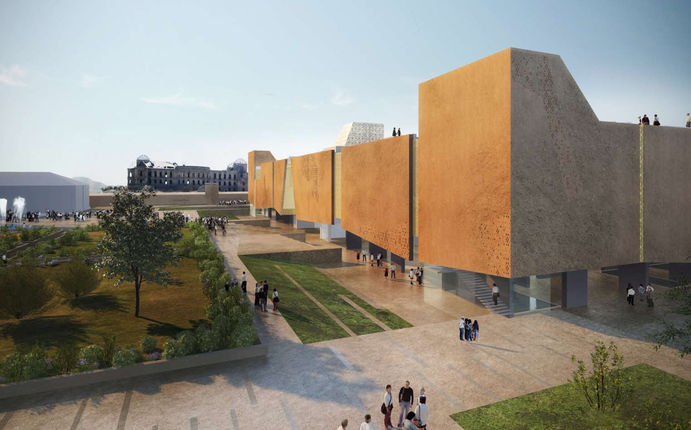 national museum of afghanistan 2012 loris rossi architect